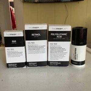 The Inkey List retinol, Q10, polyglutamic acid, hepta-peptide lot